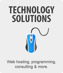 Technology Solutions - Hosting, custom development, and more.